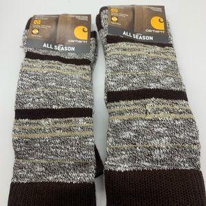 Carhartt Brown and Gray Socks Set of 2 NWT